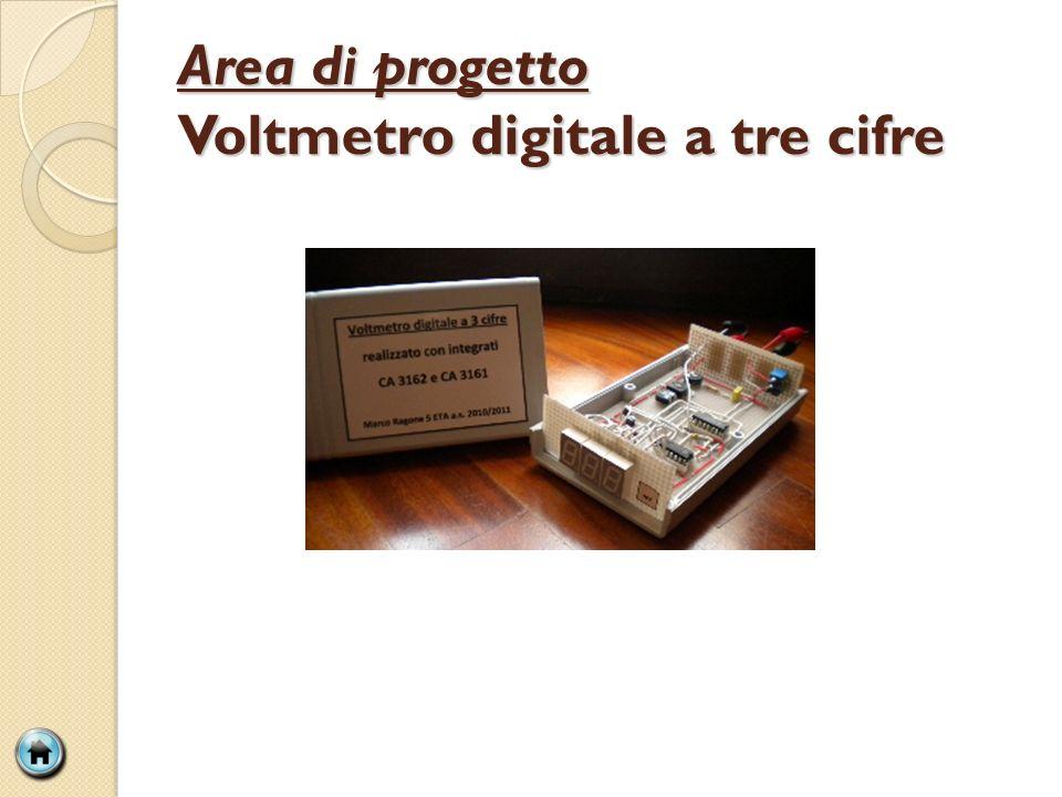 Area di progetto Voltmetro digitale a tre cifre