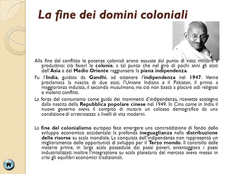La fine dei domini coloniali