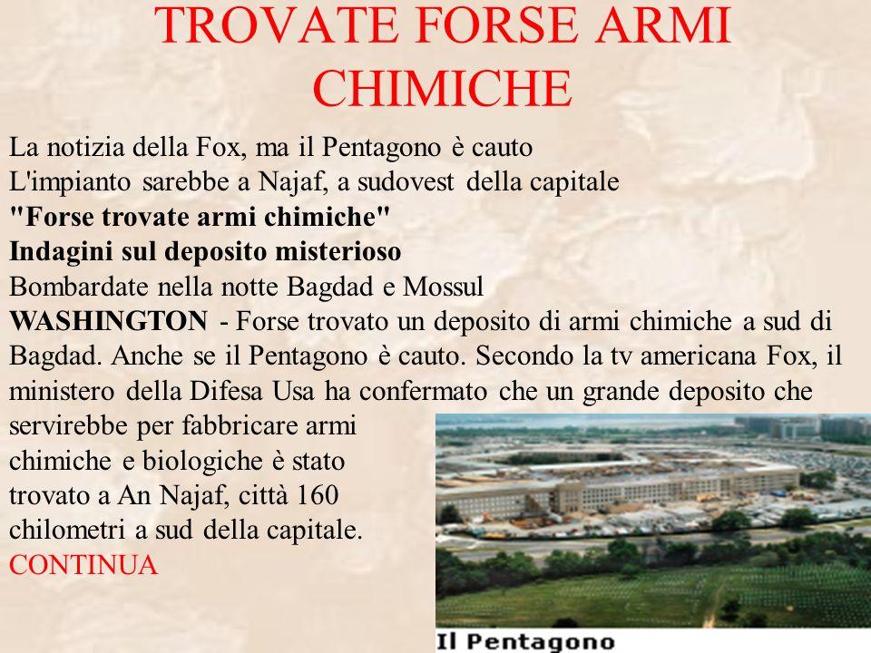 TROVATE FORSE ARMI CHIMICHE