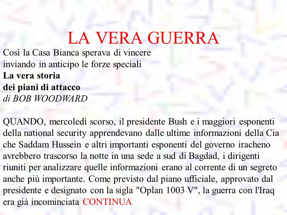 Iraq ppt scaricare for Piani di washington