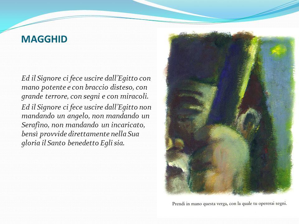 MAGGHID Ed il Signore ci fece uscire dall'Egitto con mano potente e con braccio disteso, con grande terrore, con segni e con miracoli.