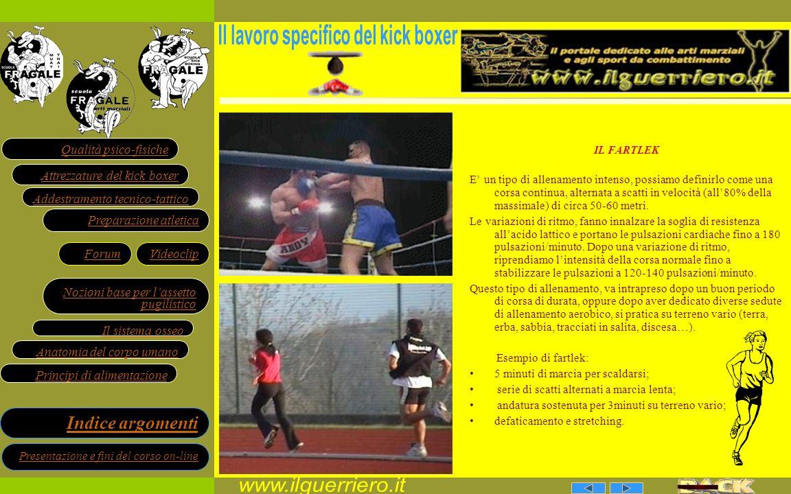 Il lavoro specifico del kick boxer