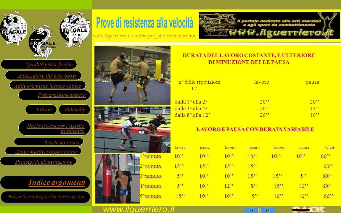 www.ilguerriero.it Prove di resistenza alla velocità