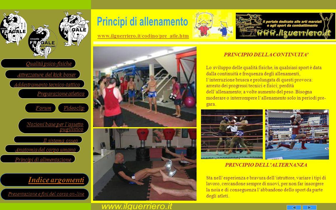 www.ilguerriero.it Principi di allenamento