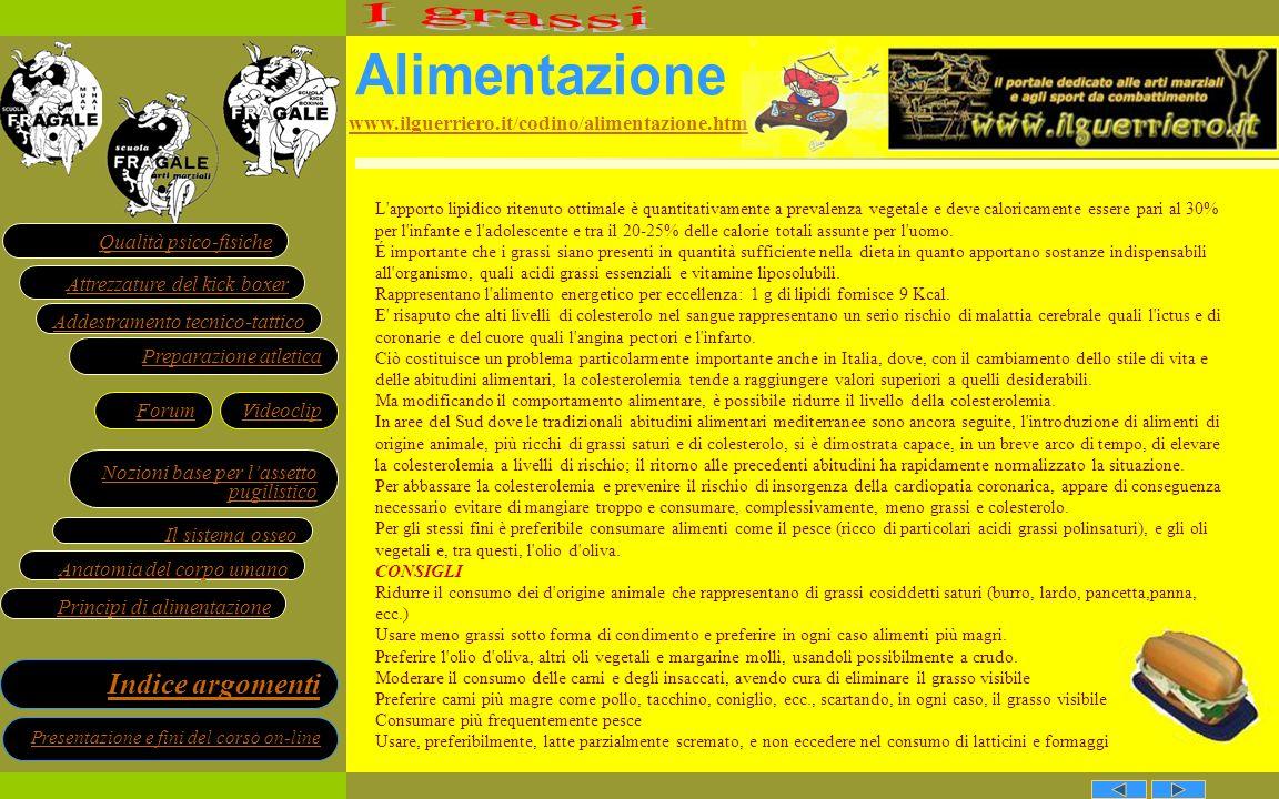Alimentazione I grassi www.ilguerriero.it/codino/alimentazione.htm