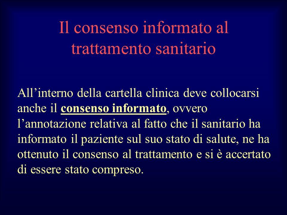 Il consenso informato al trattamento sanitario