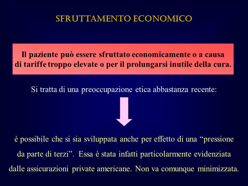 Sfruttamento ECONOMICO