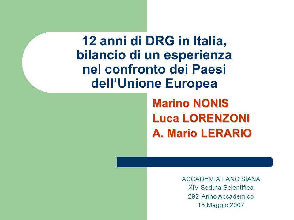 Marino NONIS Luca LORENZONI A. Mario LERARIO