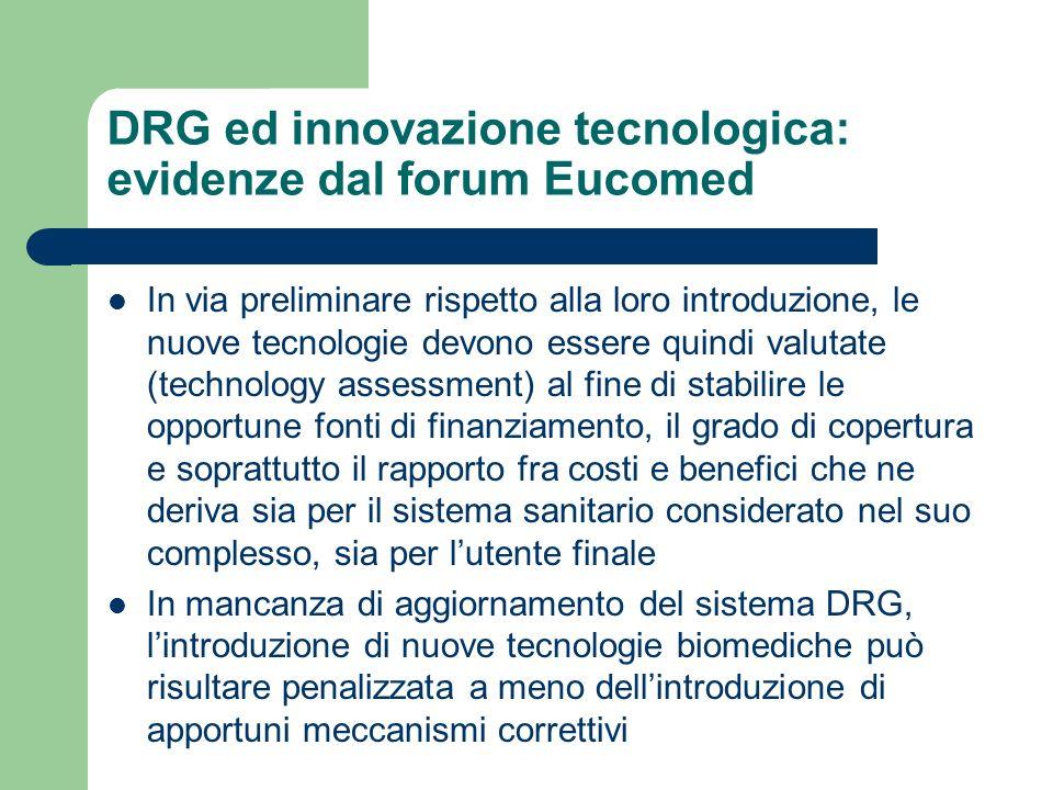 DRG ed innovazione tecnologica: evidenze dal forum Eucomed