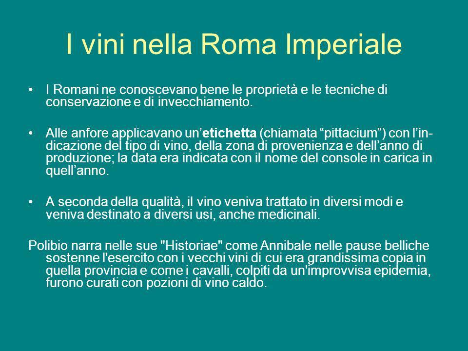 I vini nella Roma Imperiale