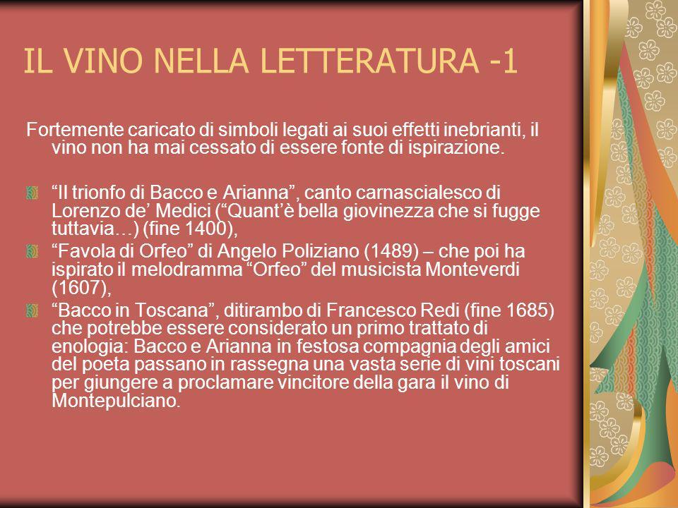 IL VINO NELLA LETTERATURA -1