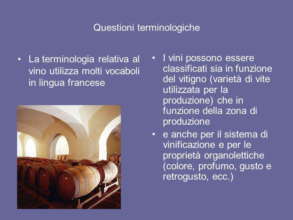 Questioni terminologiche