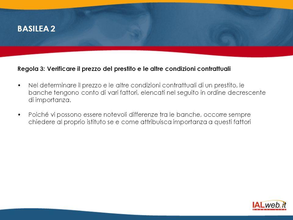 Regola 3: Verificare il prezzo del prestito e le altre condizioni contrattuali