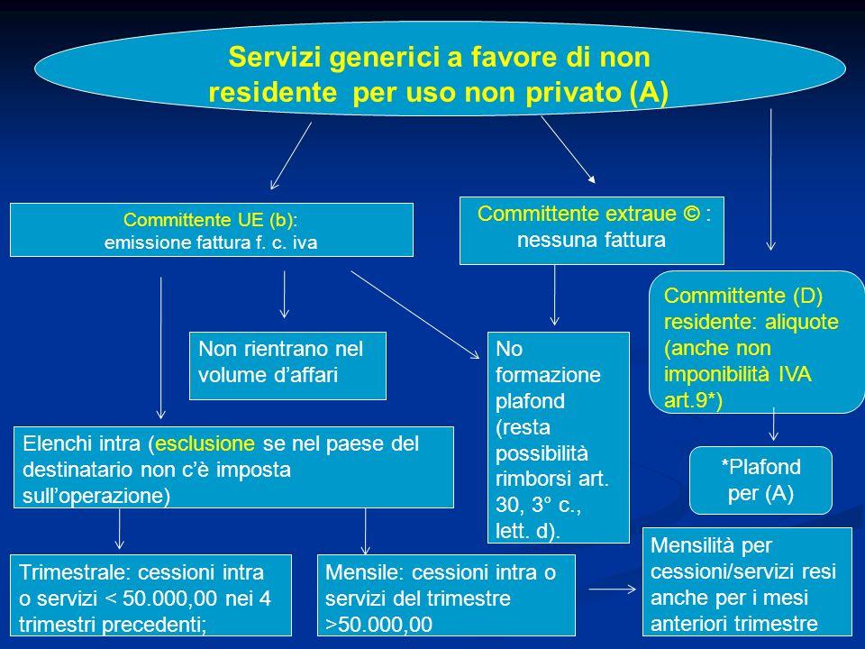 Servizi generici a favore di non residente per uso non privato (A)