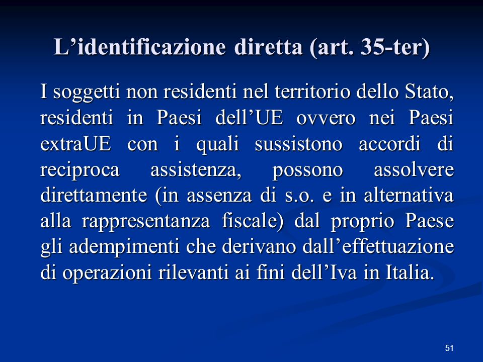 L'identificazione diretta (art. 35-ter)