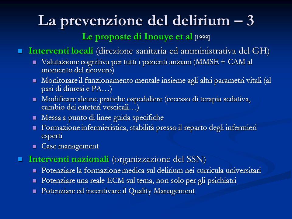 La prevenzione del delirium – 3