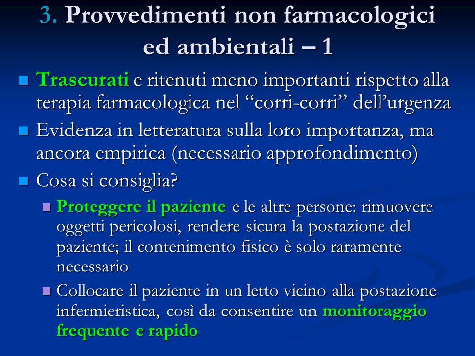 3. Provvedimenti non farmacologici ed ambientali – 1