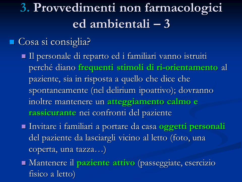 3. Provvedimenti non farmacologici ed ambientali – 3