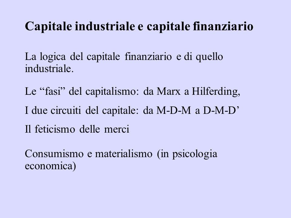 Capitale industriale e capitale finanziario