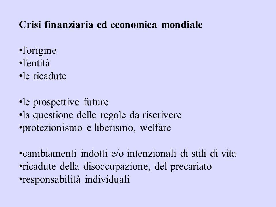 Crisi finanziaria ed economica mondiale