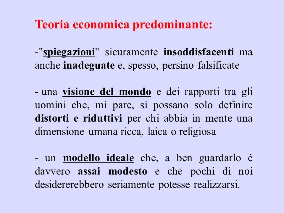Teoria economica predominante: