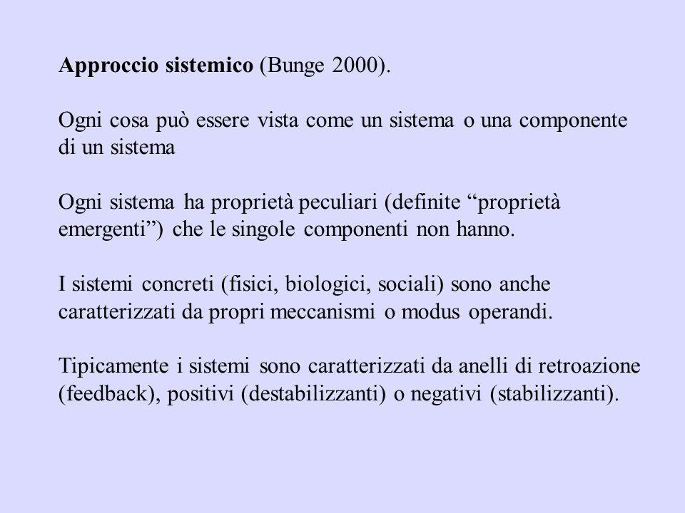 Approccio sistemico (Bunge 2000).