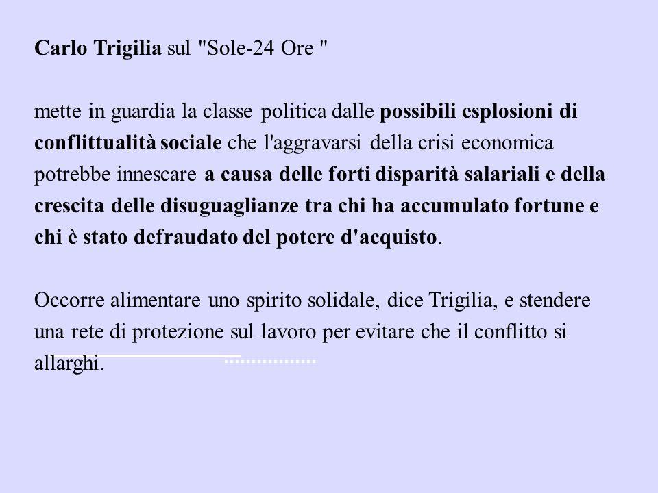 Carlo Trigilia sul Sole-24 Ore