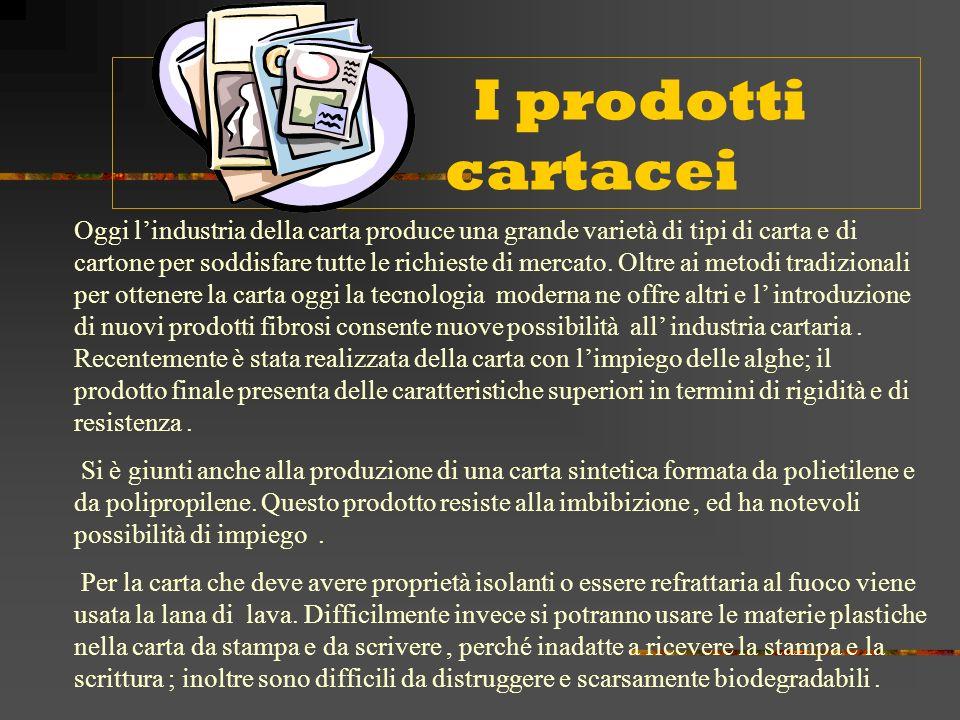 I prodotti cartacei