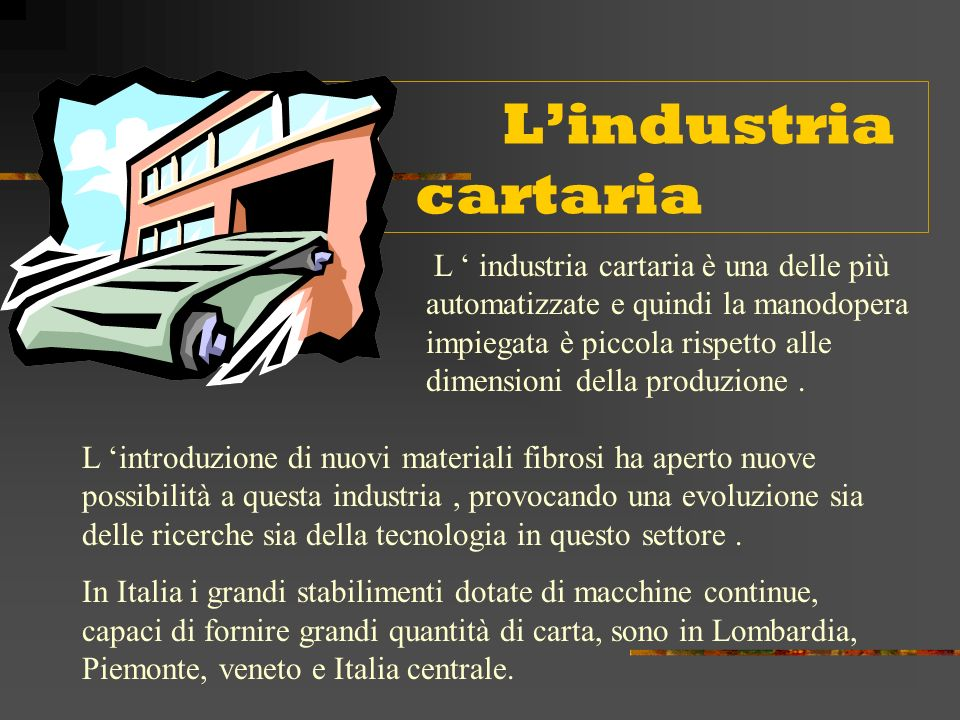 L'industria cartaria