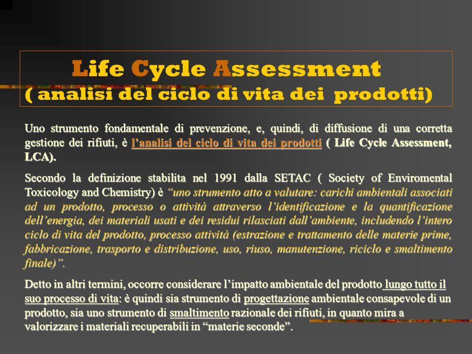Life Cycle Assessment ( analisi del ciclo di vita dei prodotti)