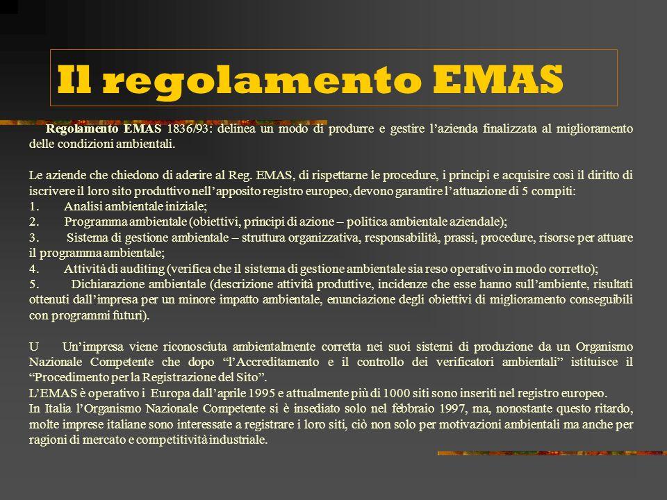 Il regolamento EMAS