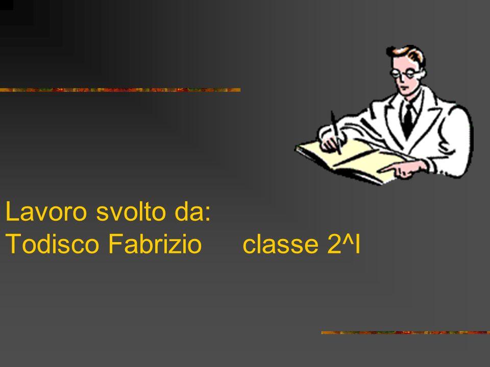 Lavoro svolto da: Todisco Fabrizio classe 2^I