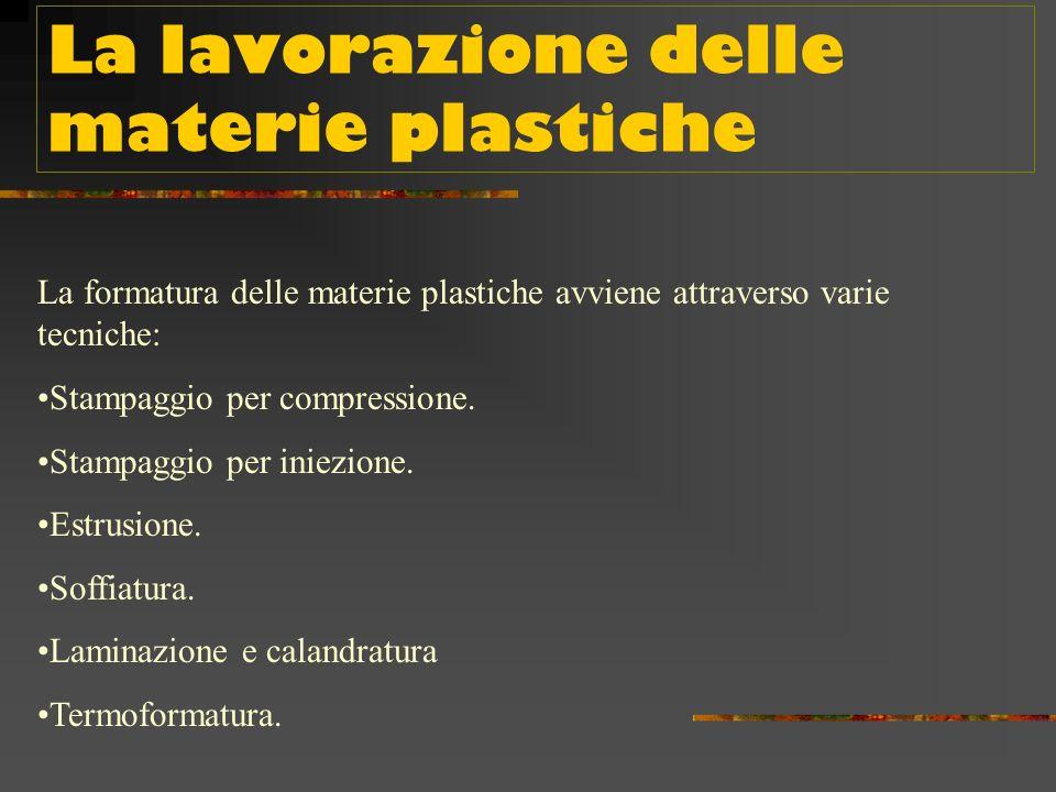 La lavorazione delle materie plastiche