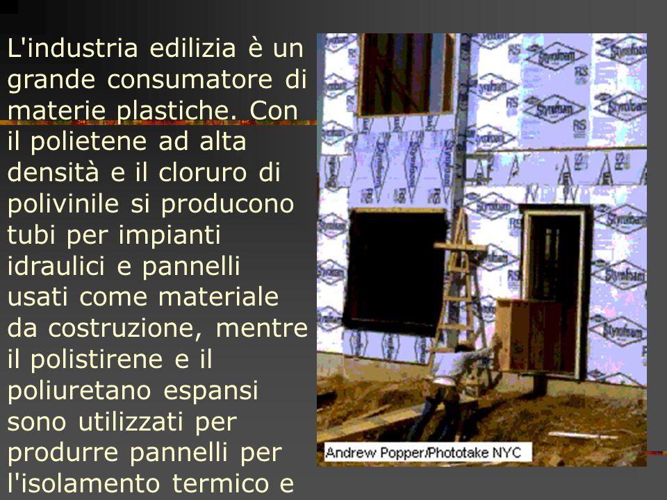 L industria edilizia è un grande consumatore di materie plastiche