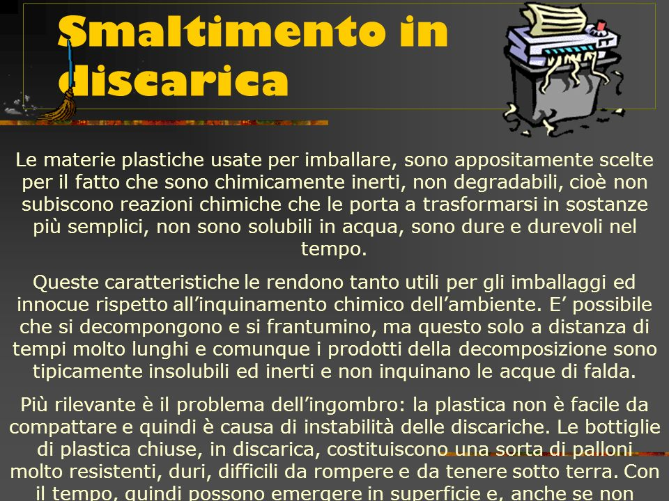 Smaltimento in discarica