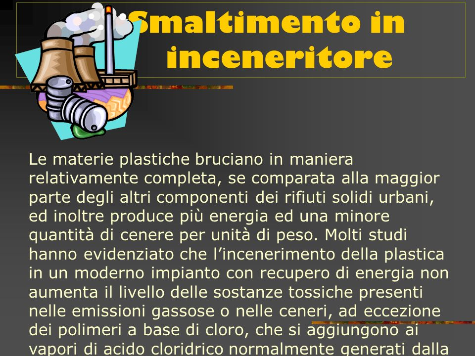 Smaltimento in inceneritore