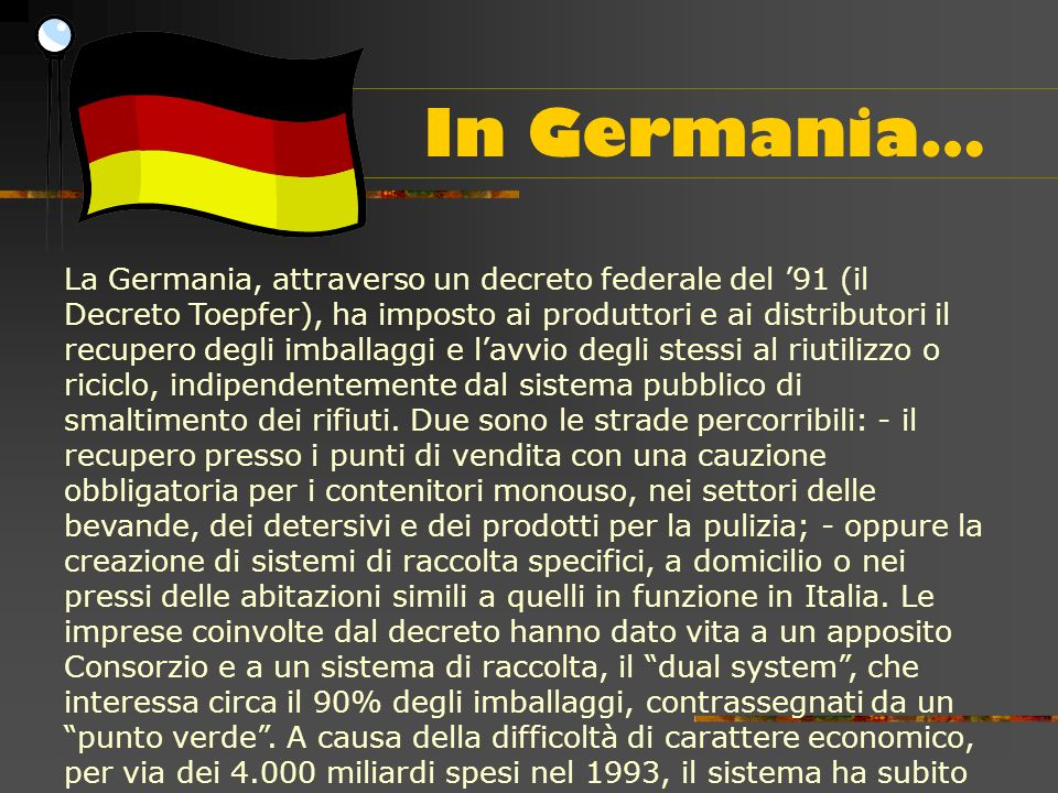 In Germania…