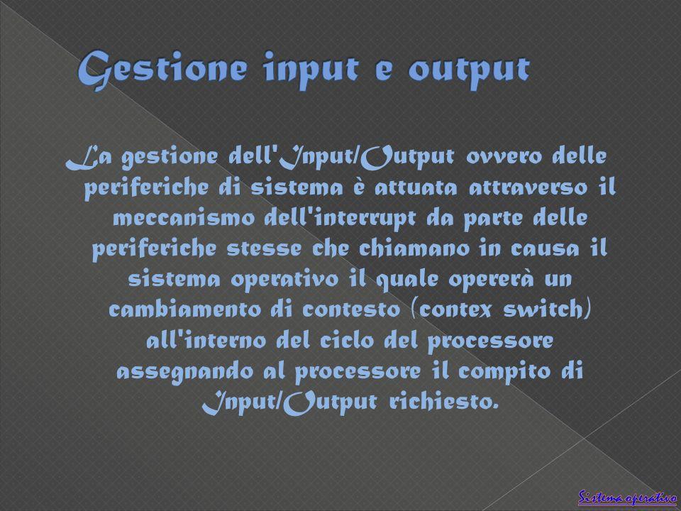 Gestione input e output
