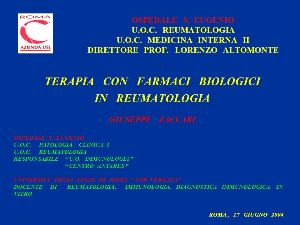 TERAPIA CON FARMACI BIOLOGICI
