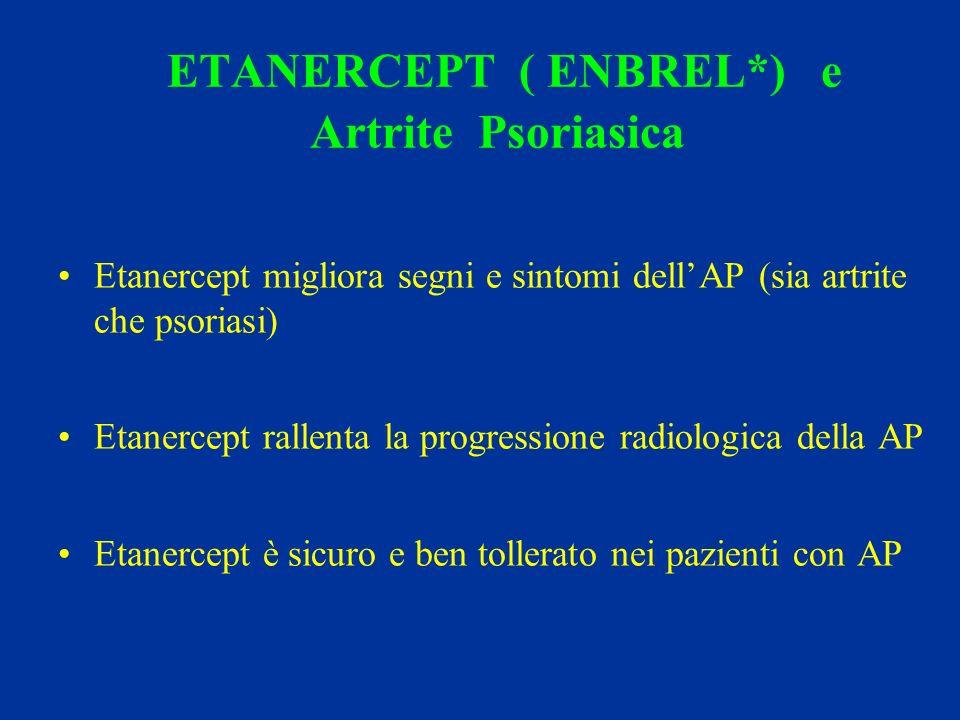 ETANERCEPT ( ENBREL*) e Artrite Psoriasica