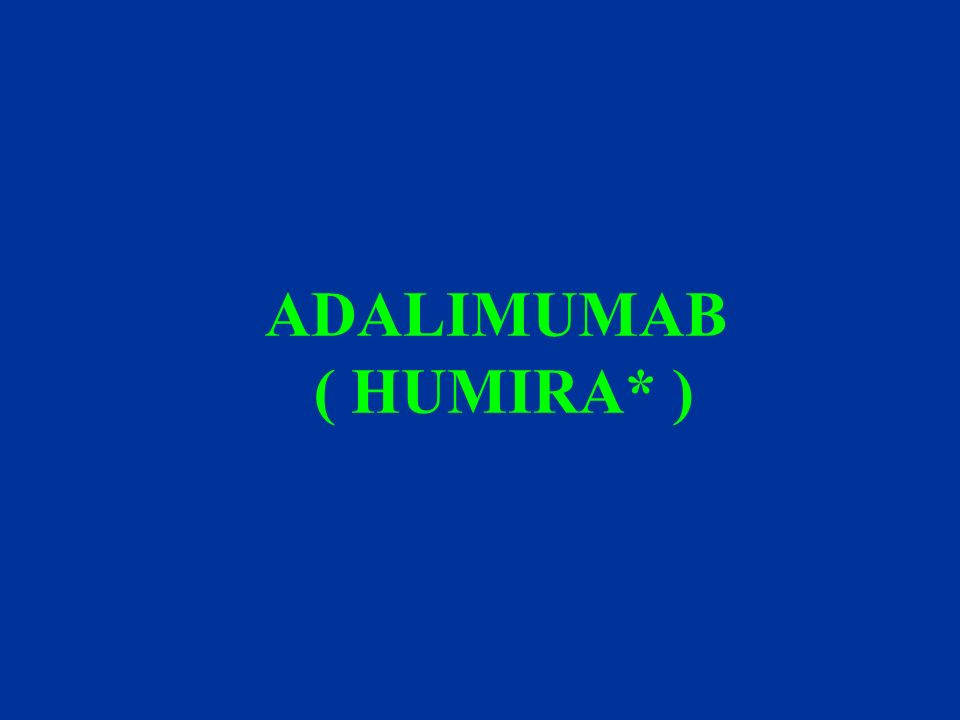 ADALIMUMAB ( HUMIRA* ) ARMADA is an acronym for Anti-TNF Research Study Program of the Monoclonal Antibody ADalimumab in Rheumatoid Arthritis.