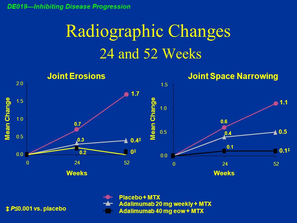 Radiographic Changes 24 and 52 Weeks