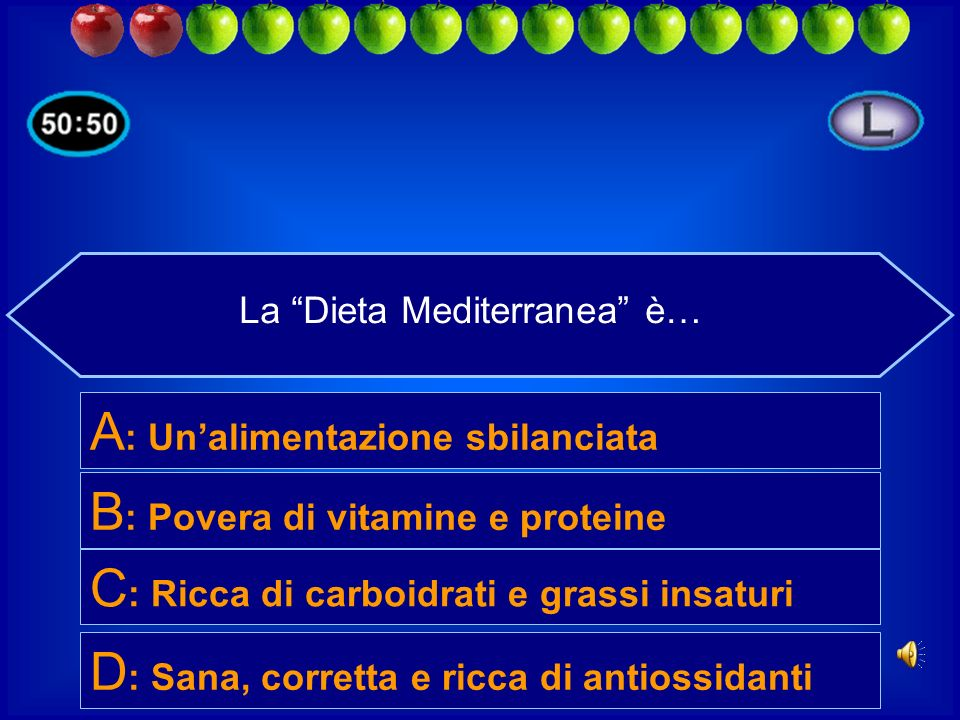 La Dieta Mediterranea è…