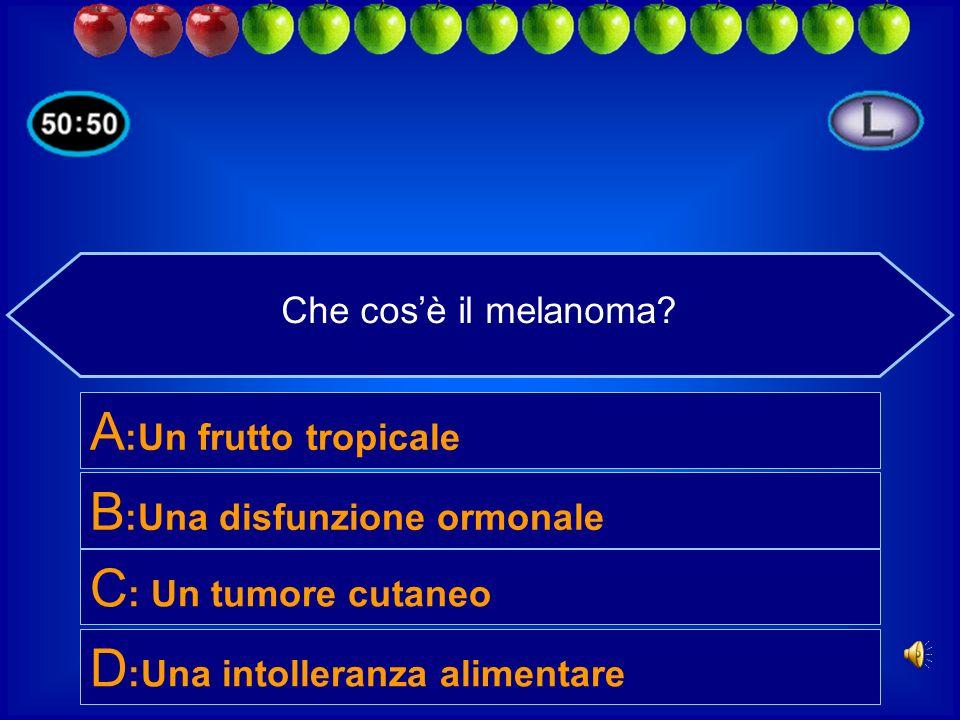 B:Una disfunzione ormonale C: Un tumore cutaneo