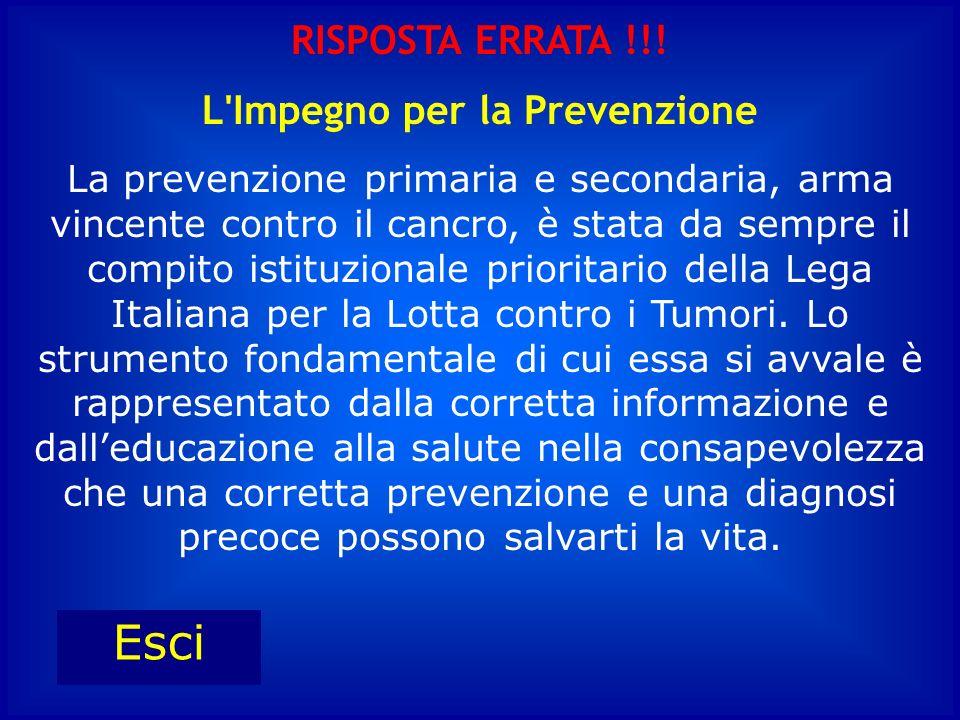 L Impegno per la Prevenzione