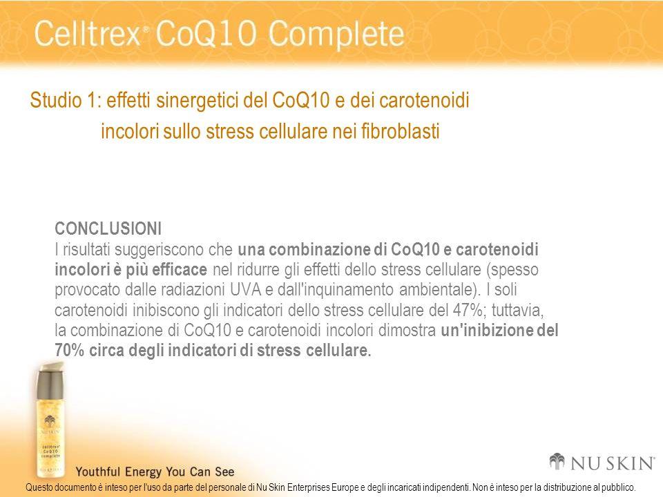 Studio 1: effetti sinergetici del CoQ10 e dei carotenoidi