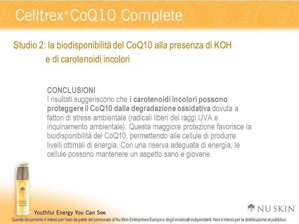 Studio 2: la biodisponibilità del CoQ10 alla presenza di KOH