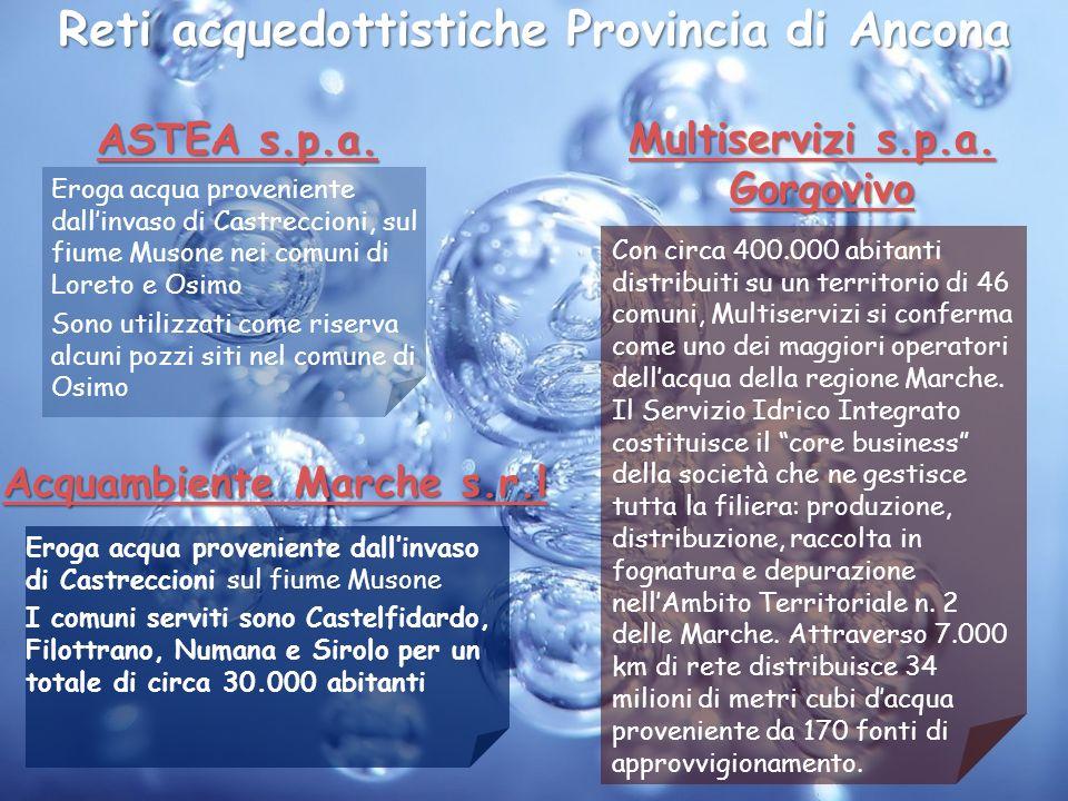 Reti acquedottistiche Provincia di Ancona