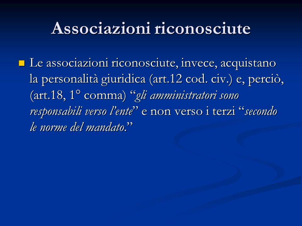 Associazioni riconosciute