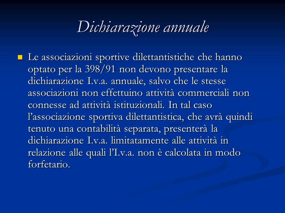 Dichiarazione annuale